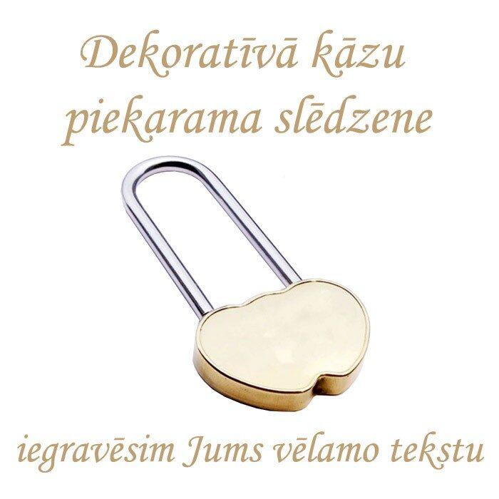 Kāzu dekoratīvā atslēga ar gravējumu